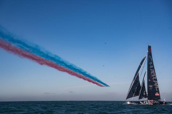 Le bateau Charal de Jérémie Beyou (LOIC VENANCE / AFP)