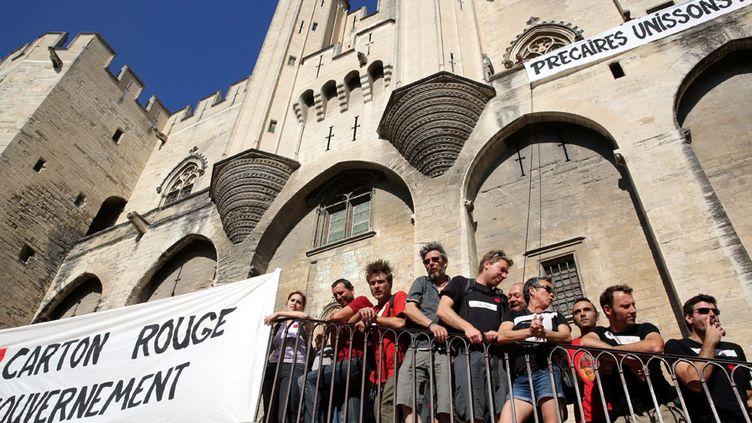 Les intermittents mobilisés à Avignon (juin 2014)  (Angélique Surel / Le Dauphiné Libéré / PhotoPQR / MaxPPP)