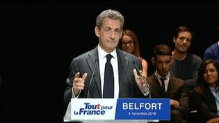 Nicolas Sarkozy a participé à une réunion publique, vendredi 4 novembre 2016 à Belfort. (FRANCEINFO)