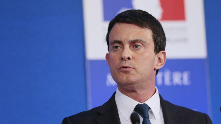 Manuel Valls, le 18 janvier 2013. (JACQUES DEMARTHON / AFP)