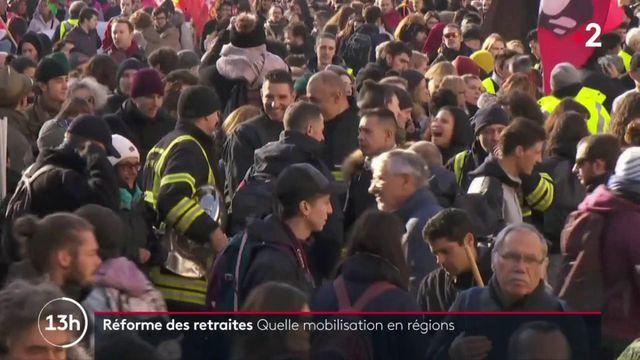 Réforme des retraites : dans les régions, les manifestants sont mobilisés
