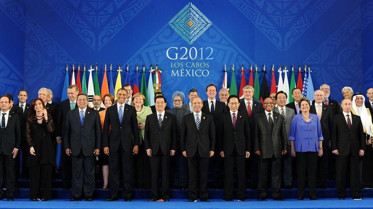 Les dirigeants des 20 pays les plus industrialisés et des puissances émergentes sont réunis pour deux jours au Mexique, à Los Cabos (Basse-Californie). (JEWEL SAMAD / AFP)