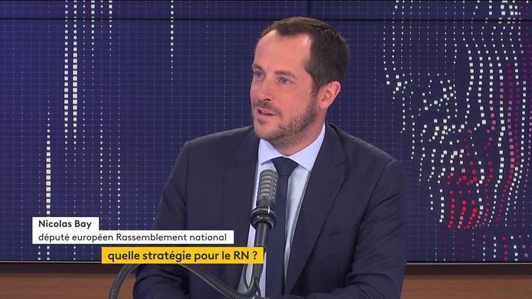 Nicolas Bay, eudéputé RN, invité du 8.30 franceinfo jeudi 22 juillet 2021. (Radio France)