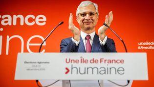 Claude Bartolone, la tête de liste socialiste en Ile-de-France, aux élections régionales, le 6 décembre 2015. (MAXPPP)