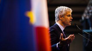 Laurent Wauquiez lors du dernier meeting de la campagne européenne, le 24 mai 2019 à Saint-Cyprien (Pyrénées-Orientales). (MAXPPP)
