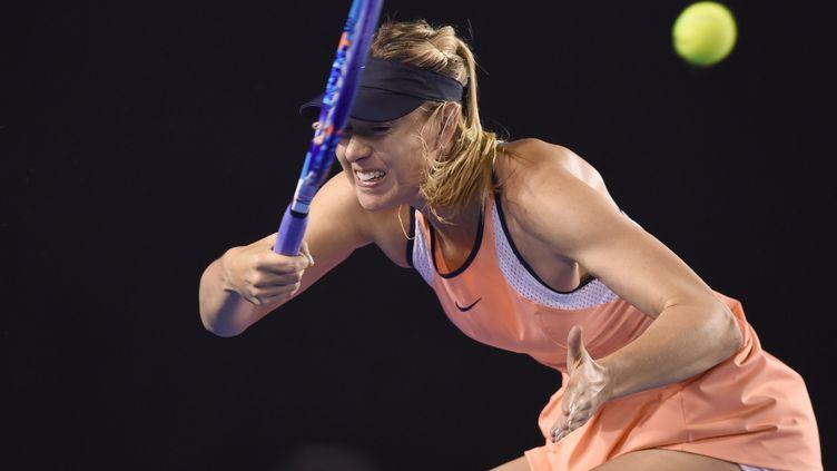 Maria Sharapova souffre (GREG WOOD / AFP)
