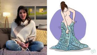 Karine Anglade dessine sur tablette (F. Razy / K. Anglade)