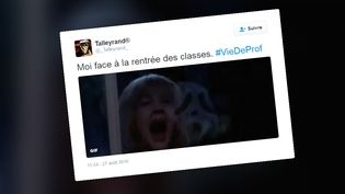 Le tweet d'un enseignant publié le jour de la rentrée des classes, jeudi 1er septembre 2016. (_TALLEYRAND_ / TWITTER)