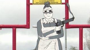 Pour combattre les excès de vitesse, à Montrécourt (Nord), on a opté pour l'humour. (FRANCE 3)