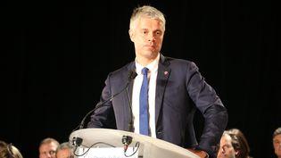 Laurent Wauquiez s'exprime lors d'un meeting, à Mandelieu-la-Napoule (Alpes-Maritimes), le 25 octobre 2017. (ERIC VINCETTE / CITIZENSIDE / AFP)