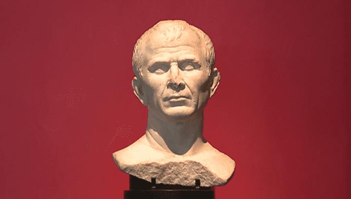 Le buste de Jules César, l'original.  (France 3 / Culturebox)