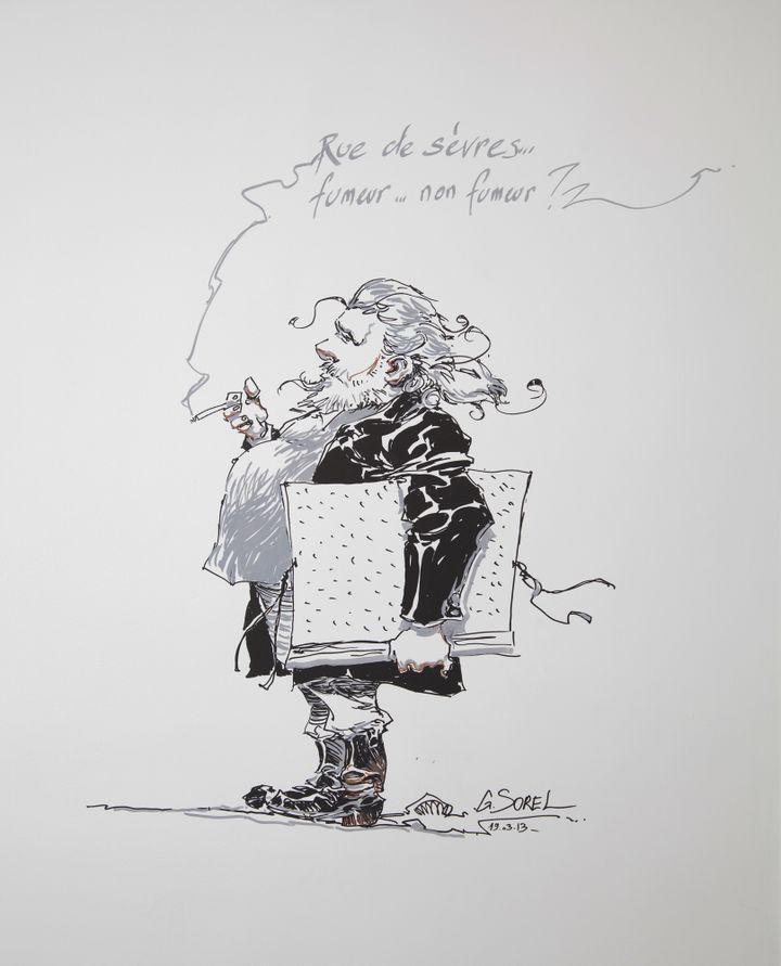 Guillaume Sorel est le premier à avoir dessiné sur les murs des locaux  (DR)