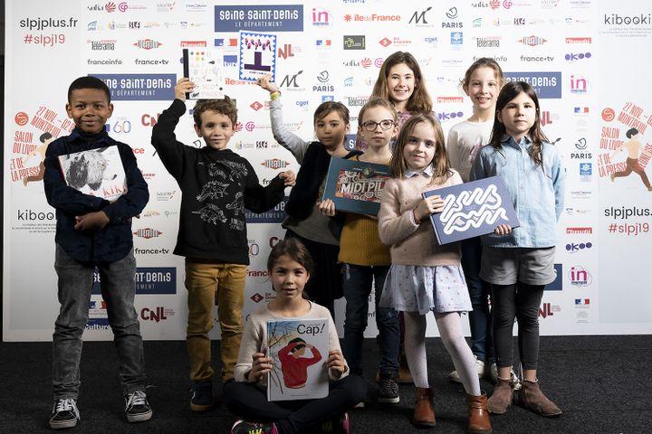 Le jury de la catégorie Livre illustré des Pépites lors de la remise des prix le 27 novembre 2017 (ERIC GARAULT)
