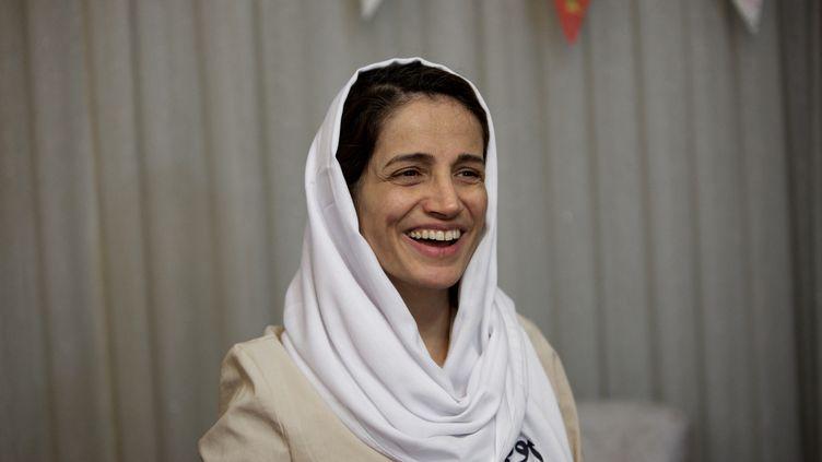 Nasrin Sotoudeh à son domicile à Téhéran, le 18 septembre 2013. (BEHROUZ MEHRI / AFP)