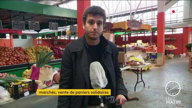 Coronavirus : à Stains, un marché propose des paniers solidaires