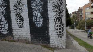 Du street art à Bogota (Colombie).  (RAUL ARBOLEDA / -- / AFP)