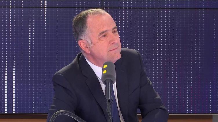 Didier Guillaume, le 21 mai 2019 sur franceinfo. (FRANCEINFO / RADIOFRANCE)