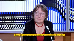 Marie-Christine Tezenas du Montcel, secrétaire générale du groupe Polyhandicap France, était l'invitée du journal de 23 heures de franceinfo, samedi 27 juin. (FRANCEINFO)