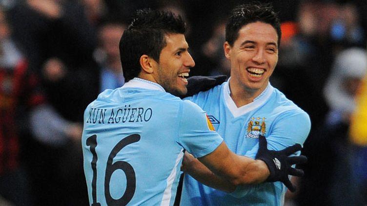 Agüero et Nasri en réussite (ANDREW YATES / AFP)