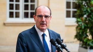 Le Premier ministre, Jean Castex, lors d'une conférence sociale à Matignon (Paris), le 17 juillet 2020. (BOUZAS / HANS LUCAS / AFP)