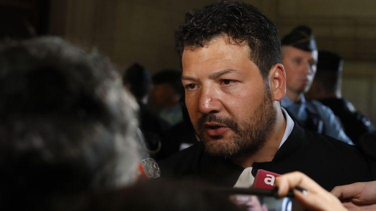 """L'avocat Arié Alimi, ici le 11 octobre 2017, réclame """"la suppression immédiate et intégrale de ce fichier"""". (PATRICK KOVARIK / AFP)"""