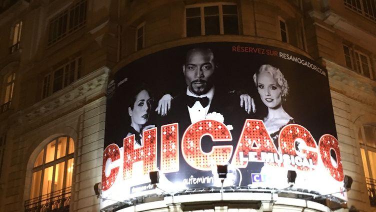 La comédie musicale Chicago à l'affiche rue Mogador à Paris  (Valérie Gaget)