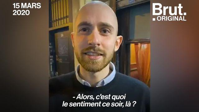 C'était il y a 1 an. Brut était rue de Lappe où les derniers Parisiens quittaient les bars fermés pour une durée initiale de... 1 mois.