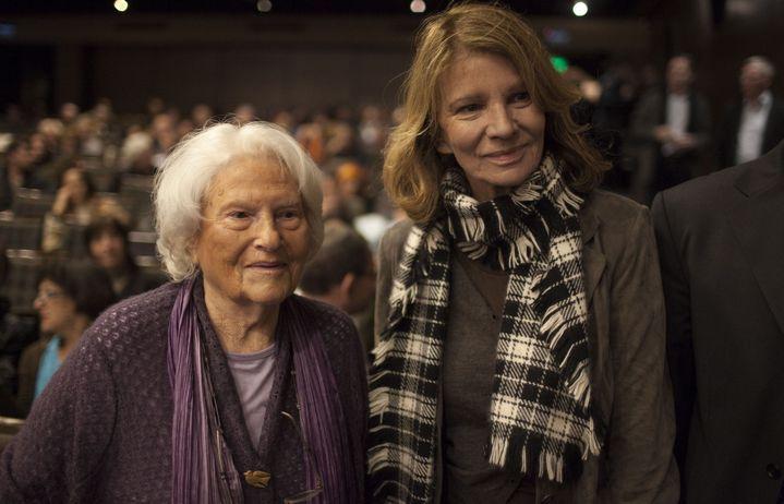 Lia Van Leer avec Nicole Garcia en 2011.  (MENAHEM KAHANA / AFP)