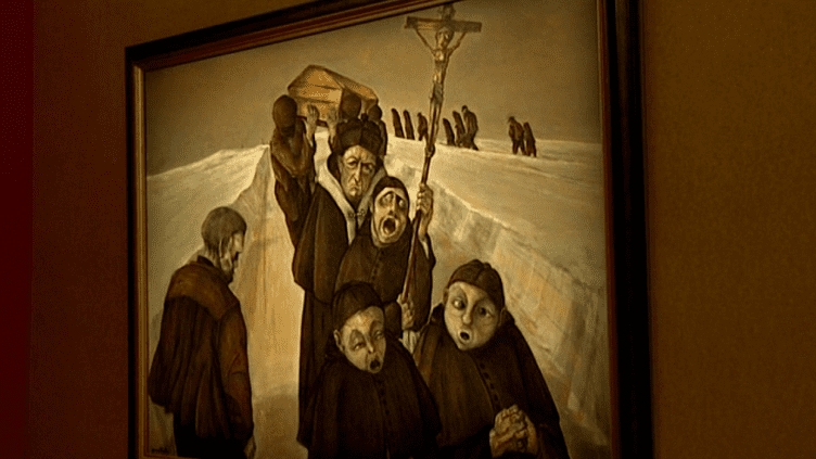 """L'enterrement"" de Roland Gaudillière  (France3/culturebox)"