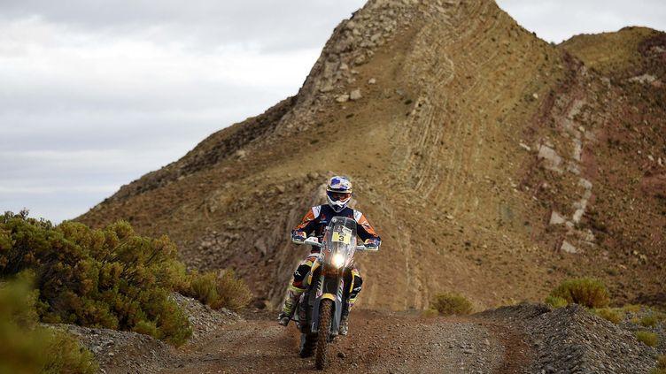 Toby Price a devancé ses rivaux Honda ce jeudi en Bolivie  (FRANCK FIFE / AFP)