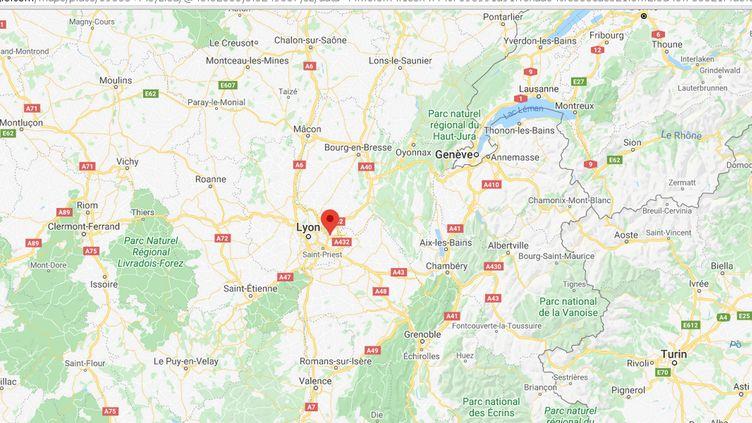 Meyzieu, dans le département du Rhône. (GOOGLE MAPS)