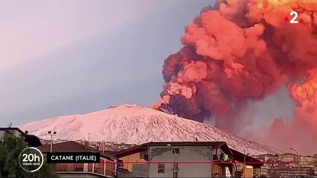 Italie : l'Etna est entré en activité, la ville de Catane recouverte de cendres