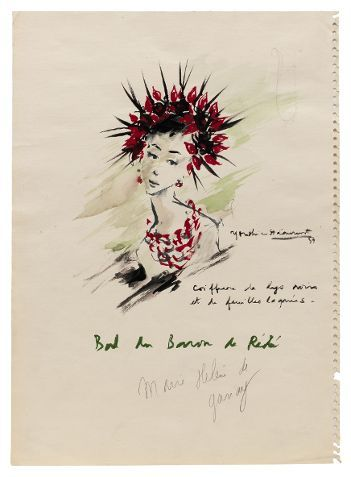 Croquis de bal, 1957  (Fondation Pierre Bergé -Yves Saint Laurent )