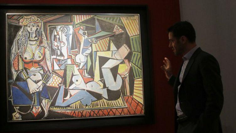 """Les Femmes d'Alger (version ""O"")"" de Picasso chez Christie's en mai 2015.  (Eduardo Munoz Alvarez / AFP)"