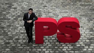 Le nouveau secrétaire général du Parti socialiste Olivier Faure, lors d'une séance photo à Solferino, le 5 avril 2018. (JOEL SAGET / AFP)