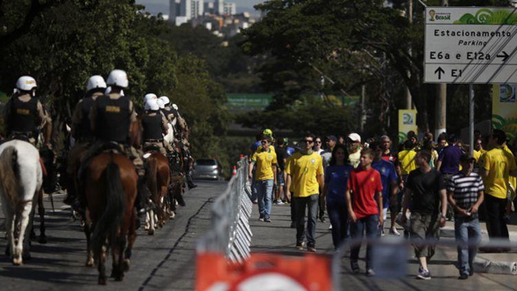 Forces de l'ordre et supporteurs se croisent à Belo Horizonte