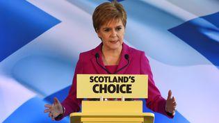 La chef du Parti national écossais (SNP) et Première ministre écossaise Nicola Sturgeon à Édimbourg, le 13 décembre 2019 (Photo d'illustration). (ANDY BUCHANAN / AFP)