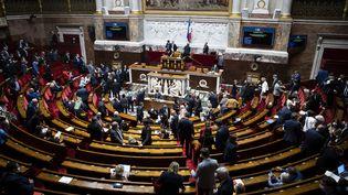 Les députés sur le départ après une session de l'Assemblée nationale, le 22 juin 2021. (ALEXIS SCIARD / MAXPPP)