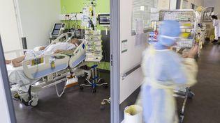 Le service de réanimation de l'hôpital Louis Pasteur, à Colmar (Haut-Rhin). (SEBASTIEN BOZON / AFP)