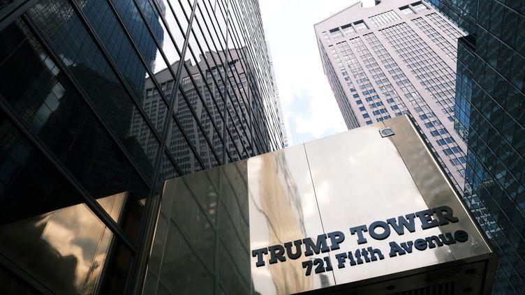 La tour Trump à New York aux Etats-Unis héberge les bureaux de la Trump Organization. (SPENCER PLATT / GETTY IMAGES NORTH AMERICA)