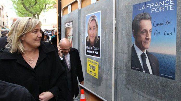 Marine Le Pen dans la dernière ligne droite (VALERY HACHE / AFP)