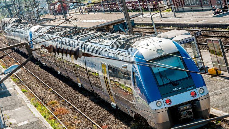 Un TER de la SNCF à la gare d'Hazebrouck (Nord), le 22 mai 2014. (PHILIPPE HUGUEN / AFP)