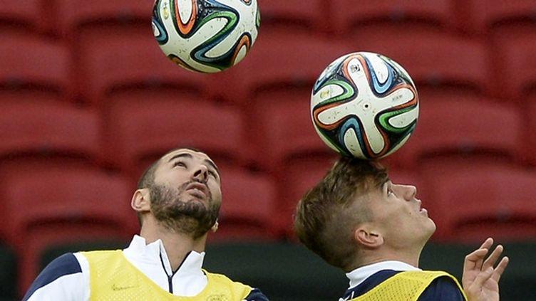 Antoine Griezmann et Karim Benzema.