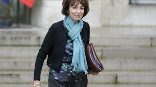 La ministre de la Santé, Marisol Touraine, quitte le palais de l'Elysée à Paris, le 27 janvier 2016. (KENZO TRIBOUILLARD / AFP)