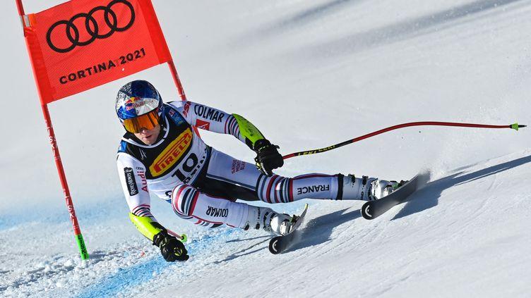 Le Français Alexis Pinturault lors du Super-G des Mondiaux de Cortina d'Ampezzo 2021 (FABRICE COFFRINI / AFP)