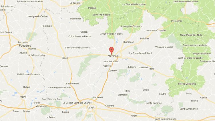 La ville de Mayenne (Mayenne). (GOOGLE MAPS)