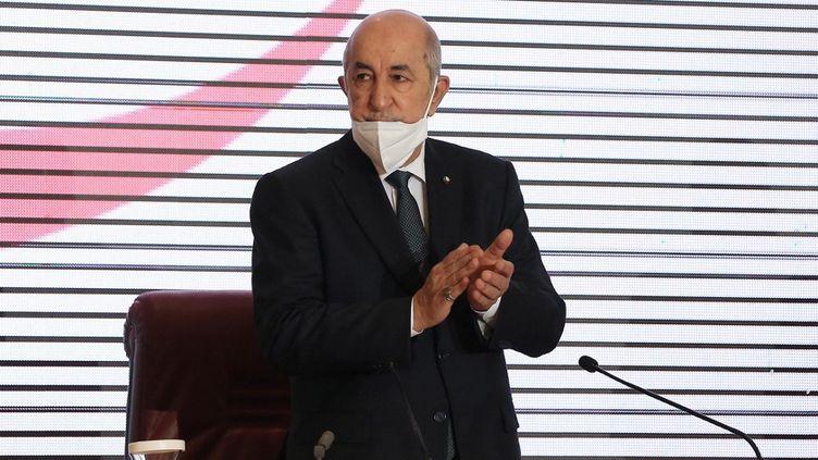 Le président Abdelmadjid Tebboune à Alger, le 18 août 2020. (BILLAL BENSALEM / NURPHOTO)
