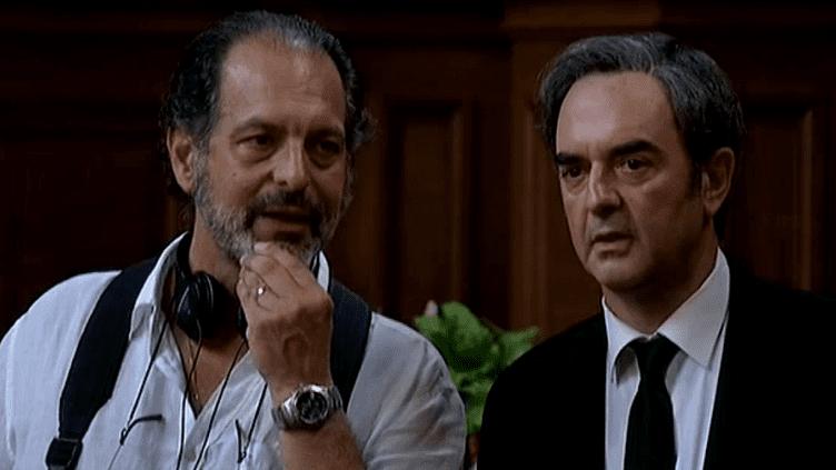 """Bruno Solo et le réalisateur du téléfilm """"La mort d'Auguste"""".  (Capture d'image France3/Culturebox)"""