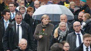 La chancellière allemande Angela Merkel à Berlin (Allemagne), le 9 novembre 2019. (KAY NIETFELD / DPA / AFP)