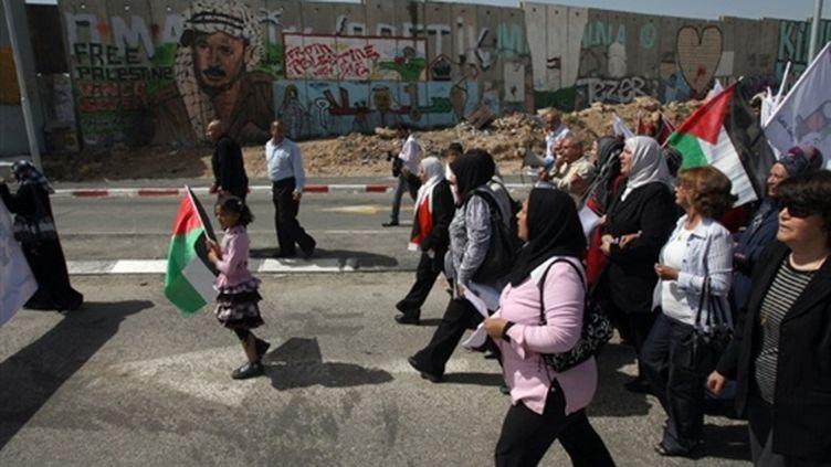 Manifestation de femmes palestiniennes (13 mars 2009) (AFP/ABBAS MOMANI)